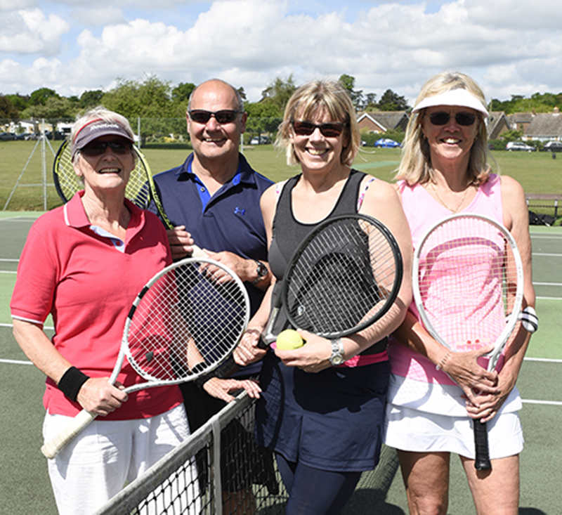 Members of Woodbridge Tennis Club