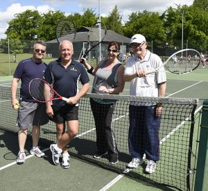 Members of Woodbridge Tennis Club in Suffolk