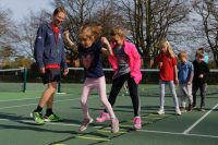Coaching day at Woodbridge Tennis Club