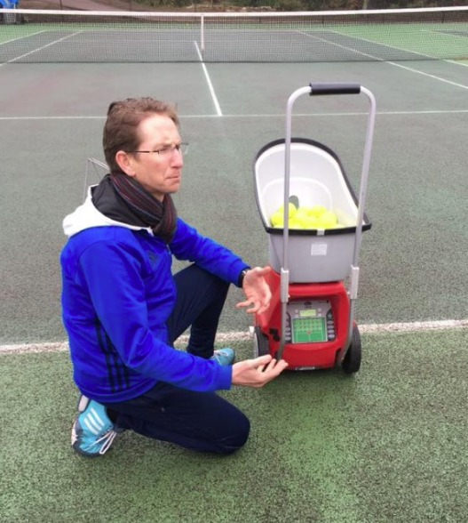 Woodbridge Tennis Club Lobster tennis ball machine training