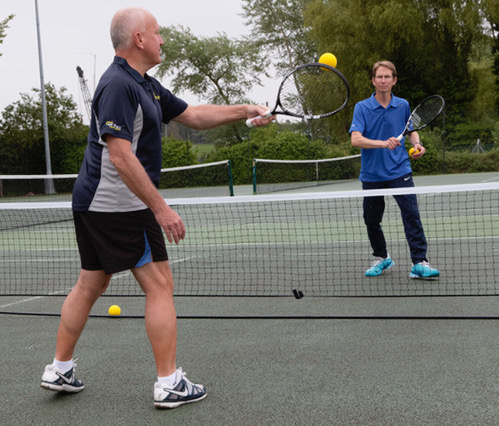Adult tennis players playing TouchTennis at Woodbridge Tennis Club