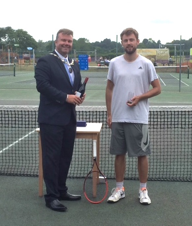 one of the winners in Woodbridge Tennis Club's annual Dick McDonald tournament