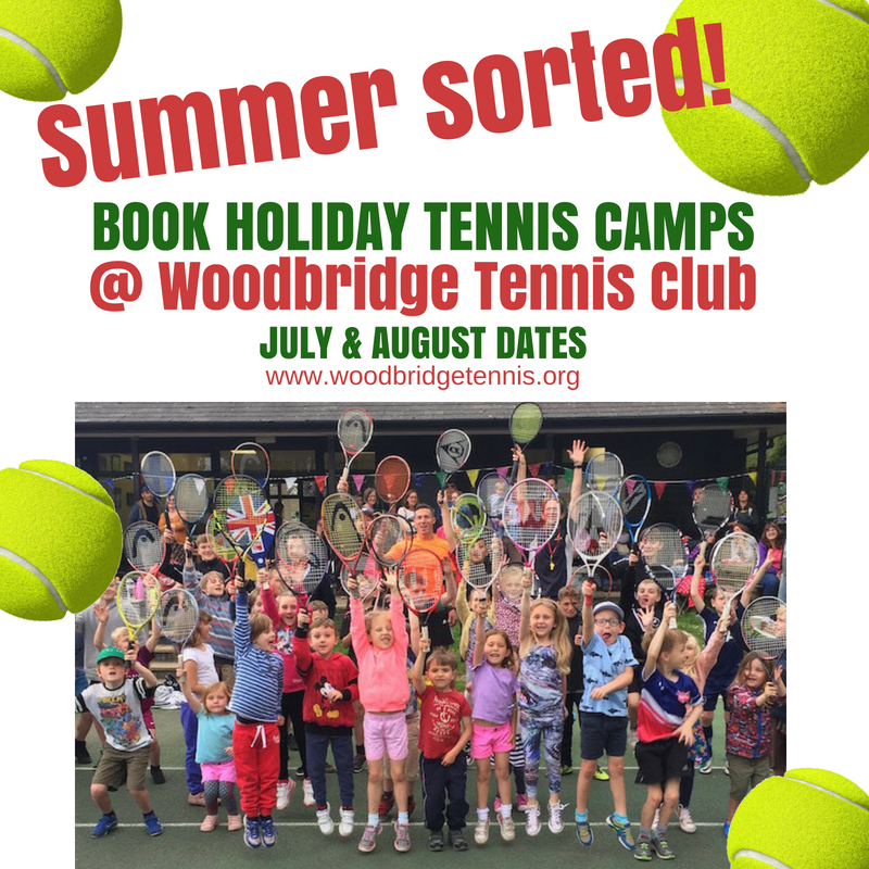 Woodbridge Tennis Club Summer Holiday Tennis Camps