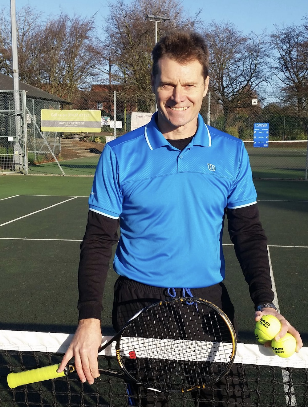 Rob Rickard part of the coaching team at Woodbridge Tennis Club in Suffolk