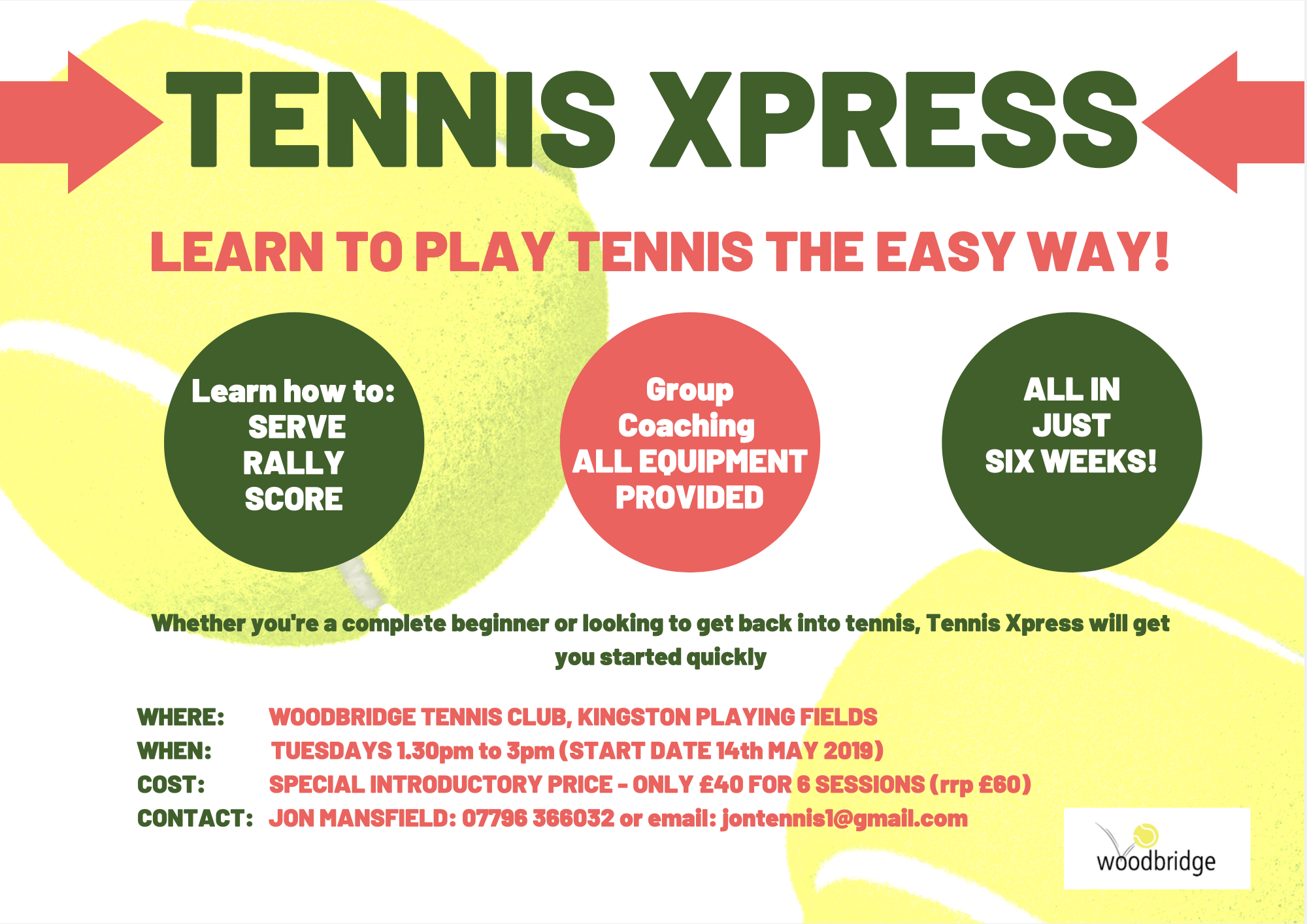 Tennis Xpress at Woodbridge Tennis Club in Suffolk