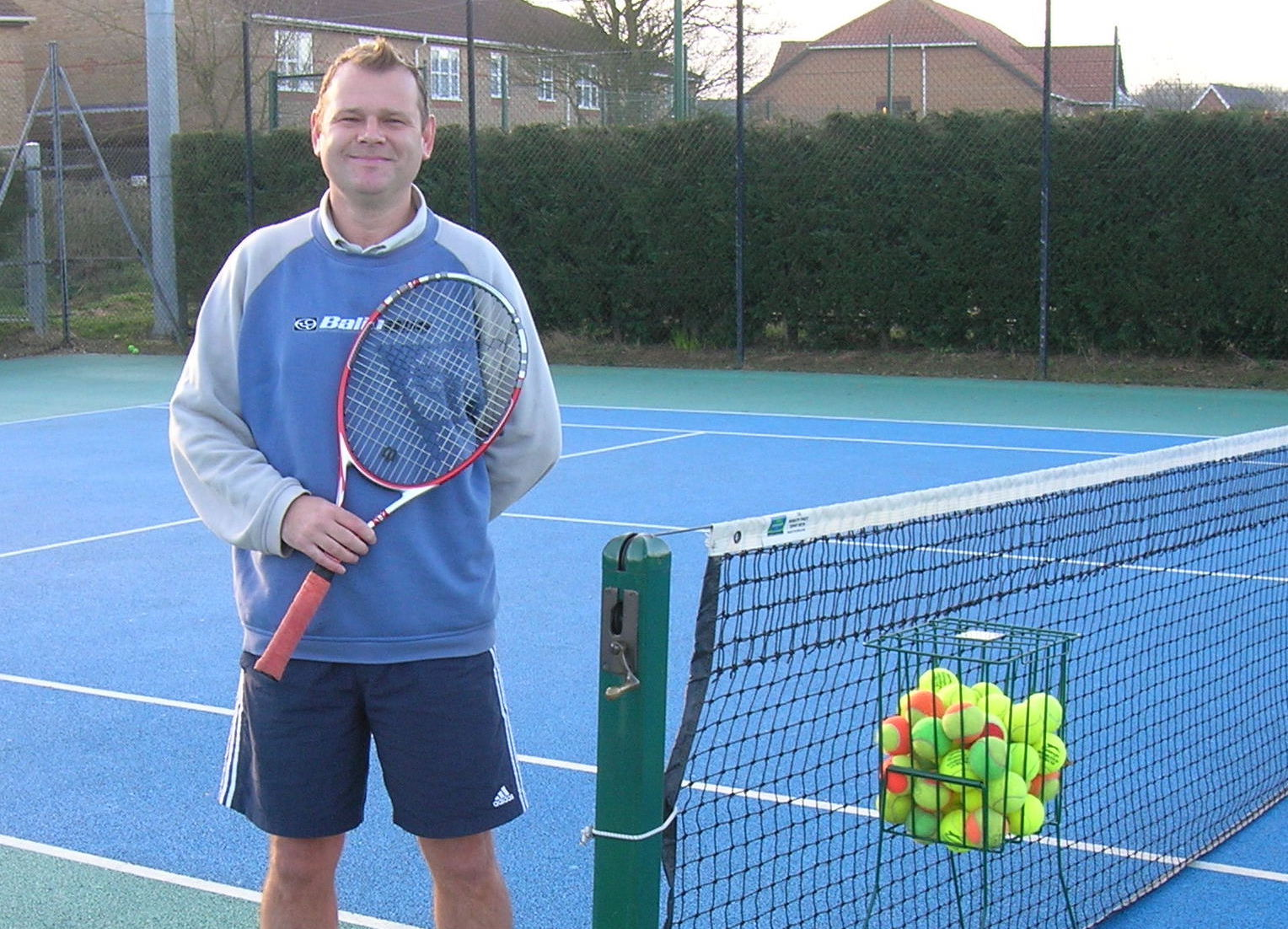 Martin Denny, development coach at Woodbridge Tennis Club