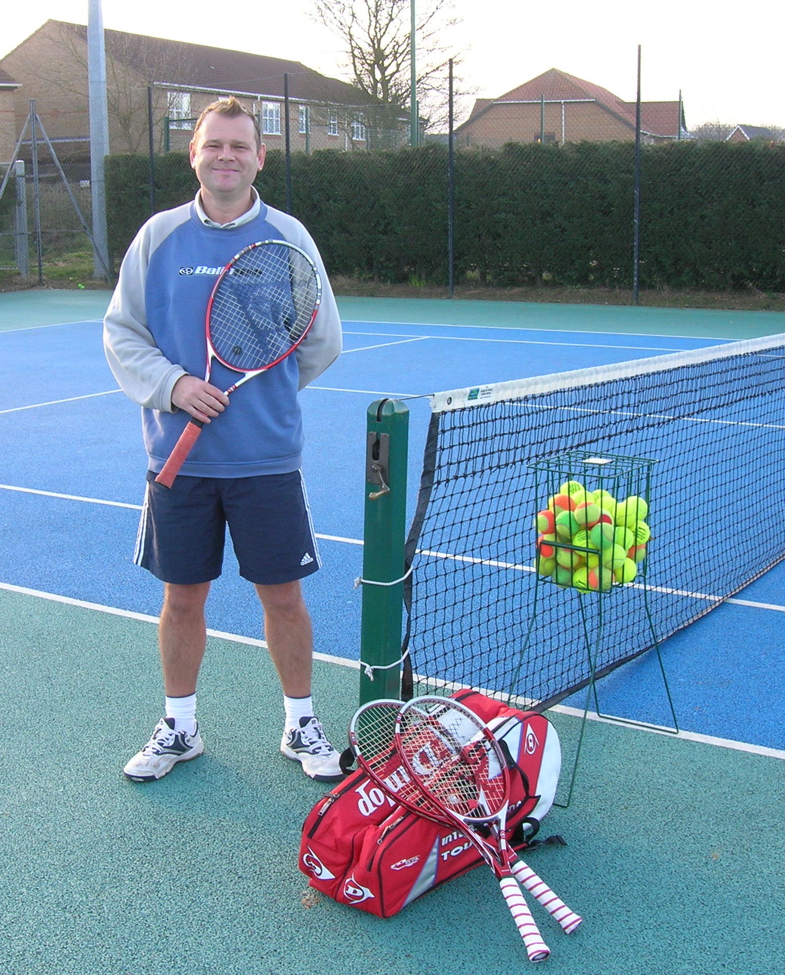 Martin Denny, tennis coach at Woodbridge Tennis Club in Suffolk