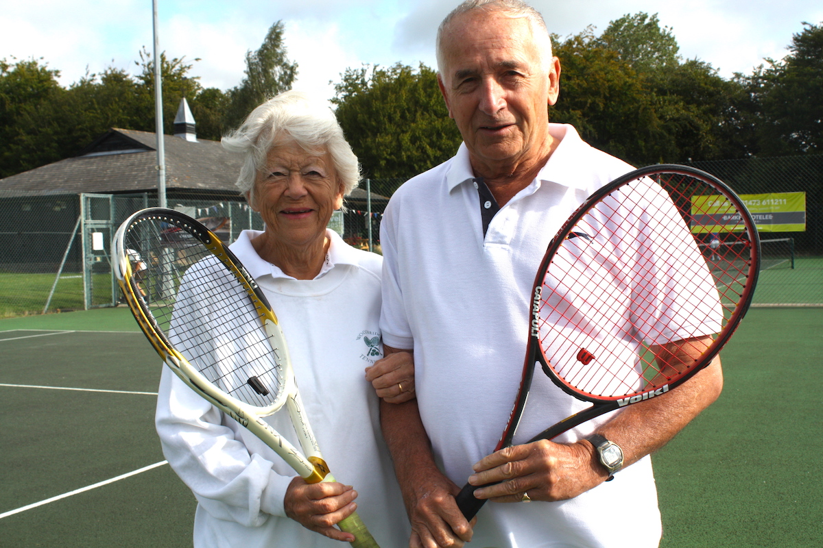 Woodbridge tennis club members Margaret and Max Pemberton