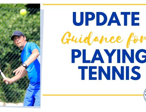 UPDATE – Guidance for Playing Tennis