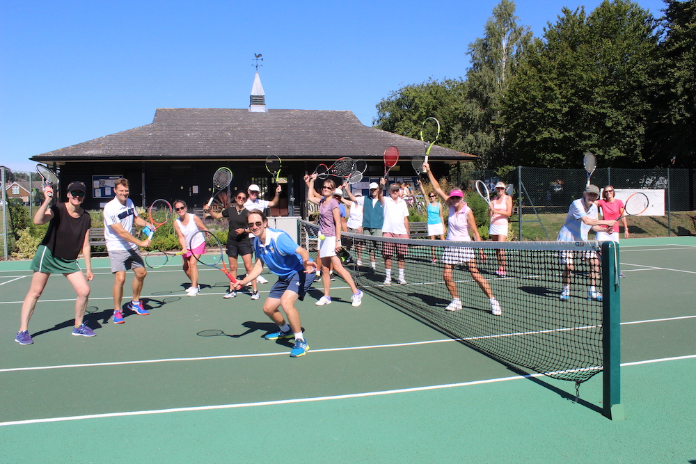 Members of Woodbridge Tennis Club on court
